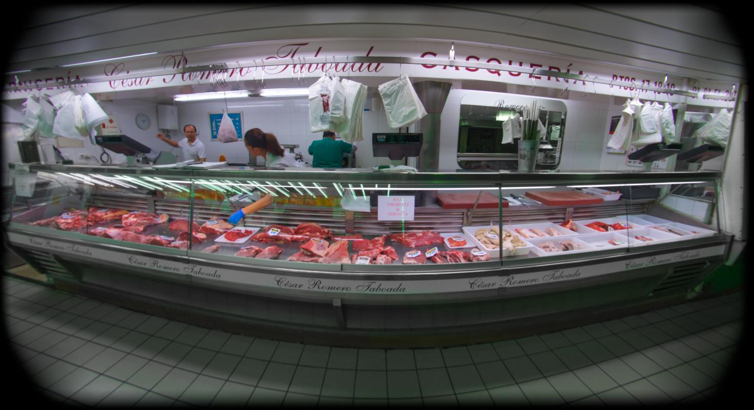 Panorámica de nuestro puesto en el Mercado de Abastos de Zamora