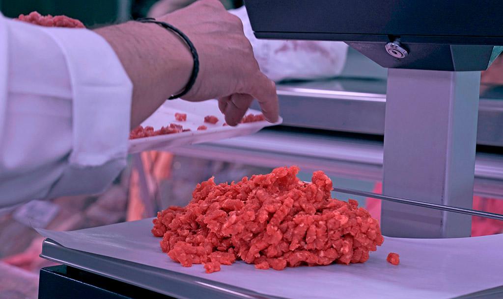 Carne picada de ternera sin ningún tipo de aditivos ni conservantes.